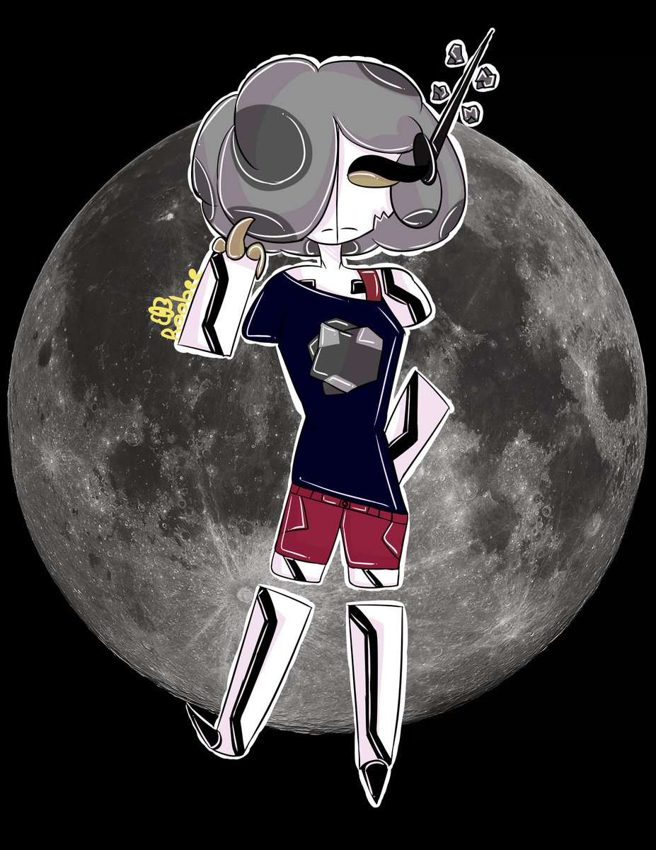 Fly me to the Moon, and Let me play among the starrss~🎵🌕  Yeah I made a planet girl, and her name is Moon! She was a old one so Im happy to bring her back!!  #OC #Moon #digitalart #art #ArtistOnTwitter
