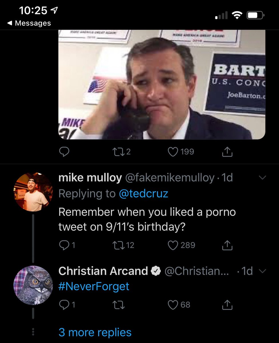 #NeverForget #tedcruzforprison #TedCruzIsTheTypeOfGuyWho mutilates his boy bits to porn then fights for Texas laws banning sex toys.