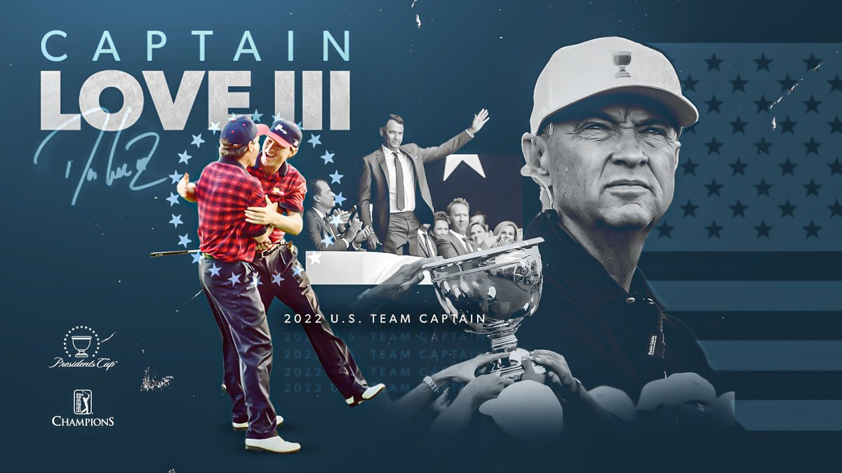 Captain @Love3d! 🇺🇸  Ready to lead at 2022 @PresidentsCup.