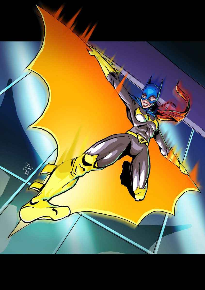 More holiday art Animated series inspired #batgirl #Batwoman #Batman #ComicArt #DC #CLIPSTUDIOPAINT #art