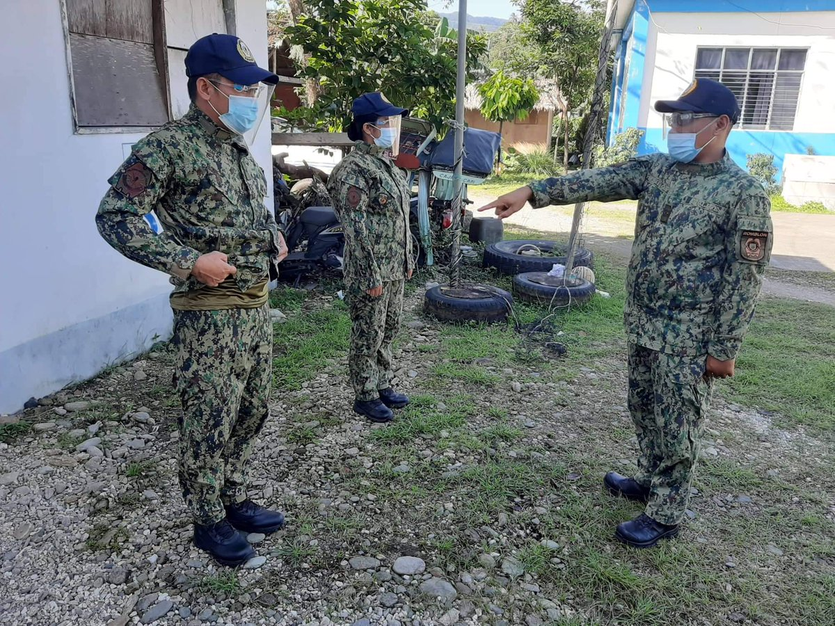 At about 10:30 AM, January 26, 2021, PEMS Lemuel Rafol, DCOP  conducted on- the- spot inspection and correction to Cajidiocan MPS  personnel in relation to LOI Tamang Bihis..   #TEAMPNP #ToServeAndProtect #TamangBihis