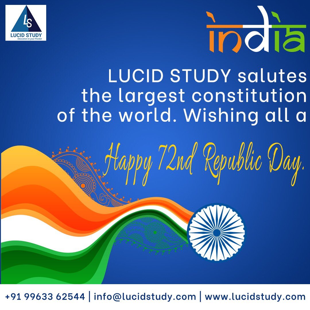 Today, let us remember the golden heritage of our country and feel proud to be a part of India.   Download LUCID STUDY APP.  #lucidstudy #online #onlineeducation #pandemic #onlineclasses #onlinelearning #elearning #students #highschool #schools #education