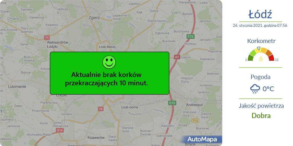 #ŁÓDŹ Aktualna #MAPA korków przekraczających 10 min.  ⚠️ #Korkometr: 6/12 🕗 Godzina: 08:00  #Traffic #AutoMapaAlert #Korek #Utrudnienia #KorkometrŁÓDŹ