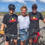 Great to catch up with Lara Dalton — WA Labor candidate for Geraldton — to celebrate announcement of new cycleways giving a safe and sustainable (low emissions) transport option in Geraldton.  #YamajiCountry #Jambinu  #AlwaysWasAlwaysWillBe