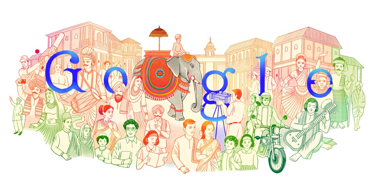 From our unique architecture to iconic instruments, today's #GoogleDoodle truly reflects India's vibrant culture and the impact it has created on the world.   Here's to the 72nd year of being a sovereign republic. ➡️   #HappyRepublicDay2021 🇮🇳
