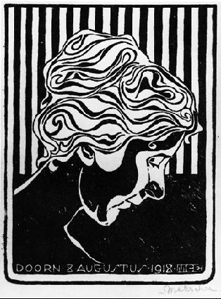 Fiet van Stolk, 1918 #mcescher #expressionism
