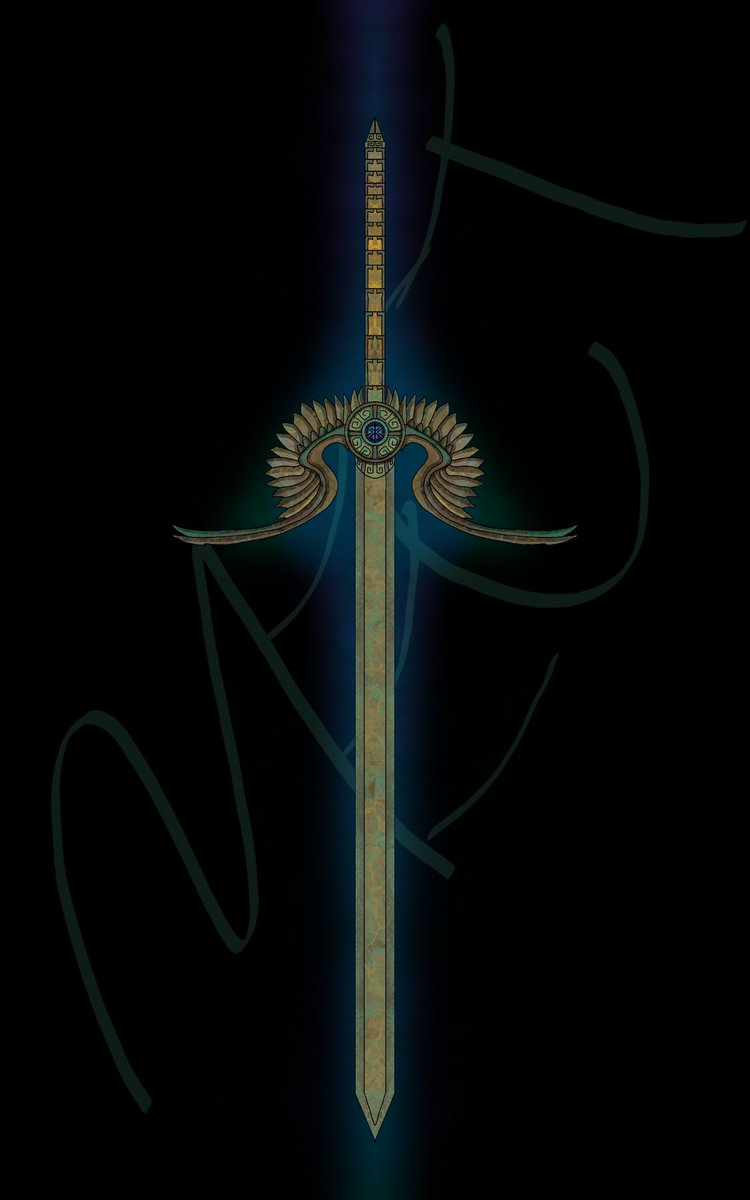Since I wasn't able to post it when I finished  here is a bonus sword #digitalart #art  #sword #artwork #artist