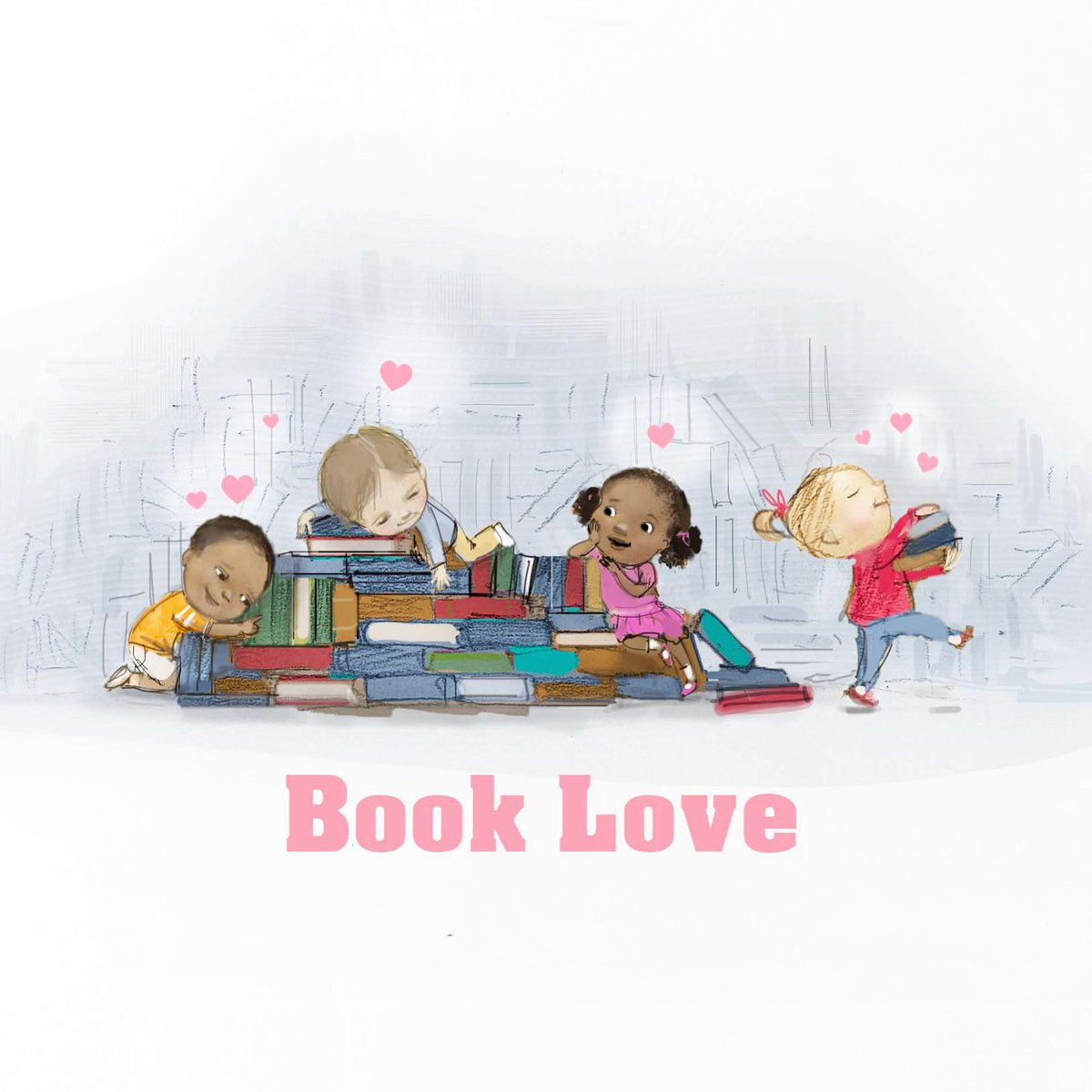 """All day I was thinking, """"I must find time to read all these beautiful books!!"""" I did squeeze in a picture to express the book joy. ❤️ There are just not enough hours in a day, sigh! #kidlit #ALAMW21 #ALAYMA #books #booklove #kidlitart #illustration #artistsoninstagram"""