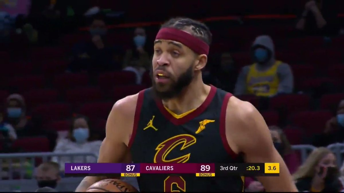 """""""I don't know what he was gonna do with it, but he was headed to the hoop!""""  JaVale almost had it 😅"""