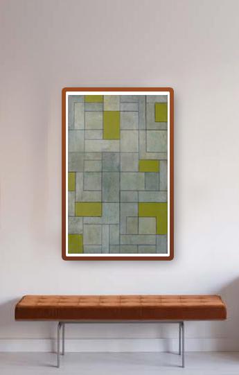 ✦ GREY MATTERS—GREEN ✦ Original ART available at saatchi art   #geometric #beauty #originalart