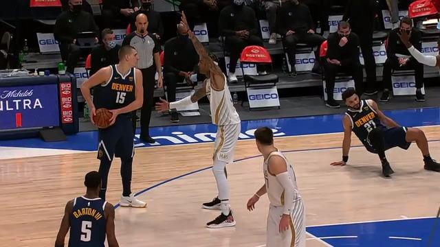 Jamal Murray was ejected after this play on Tim Hardaway Jr.