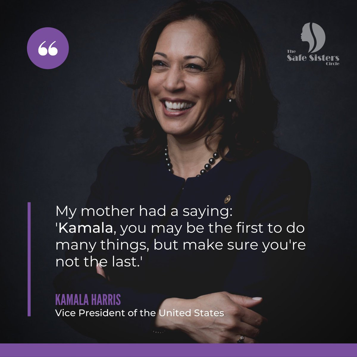 For this #MotivationMonday, we look for some #inspiration from America's first female, first Black and first South Asian vice president, @KamalaHarris!   #blackexcellence #inspirationalquote #inspirational #quote #VP #Kamala #motivationalquote