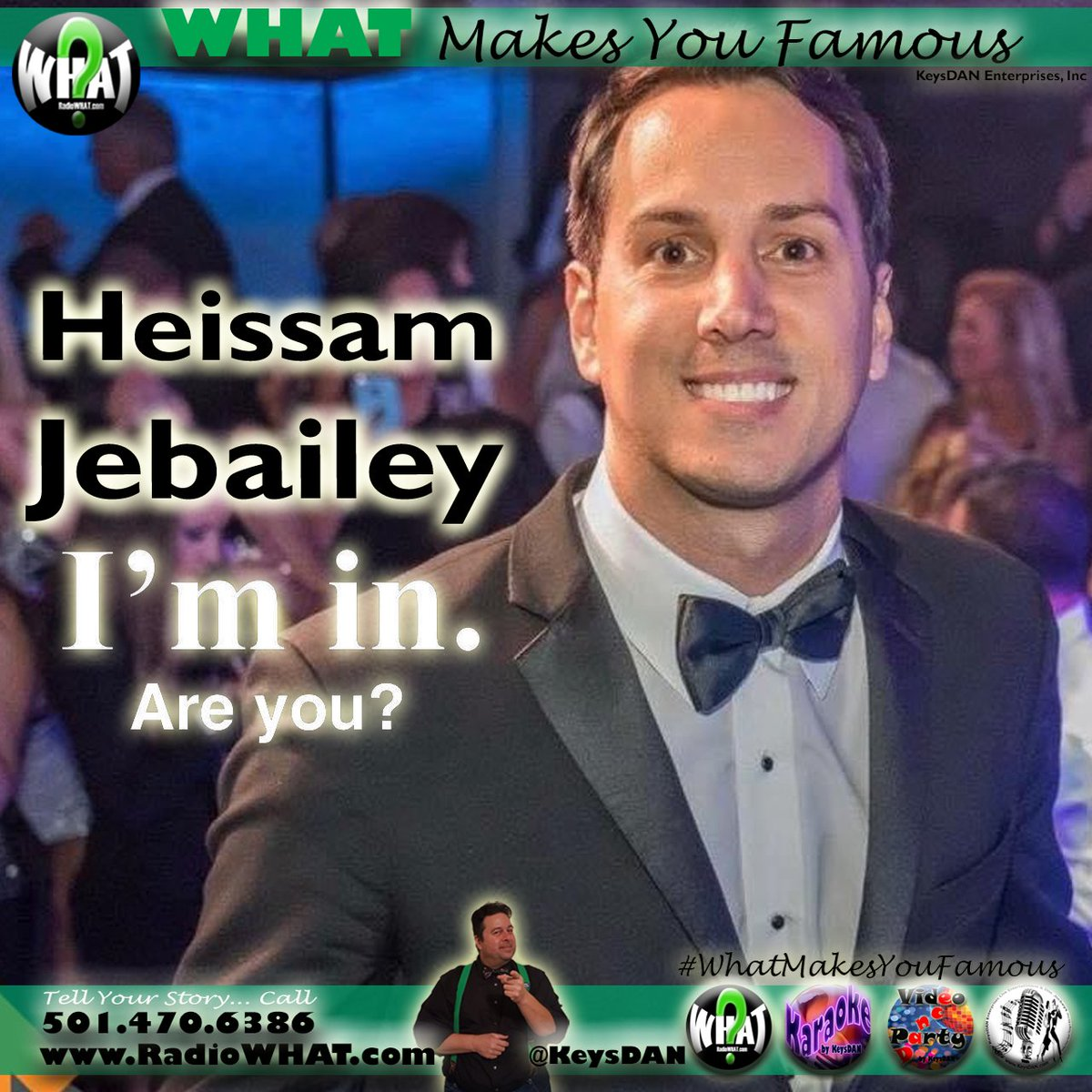 Heissam Jebailey (I'm in) #PODCAST #WhatMakesYouFamous @KeysDAN @imintoevents  #eventmanager #eventplanner #eventmanagement #events #event #eventplanning #weddingplanner #eventprofs #corporateevents #eventdesign #eventdecor #eventcoordinator #wedding