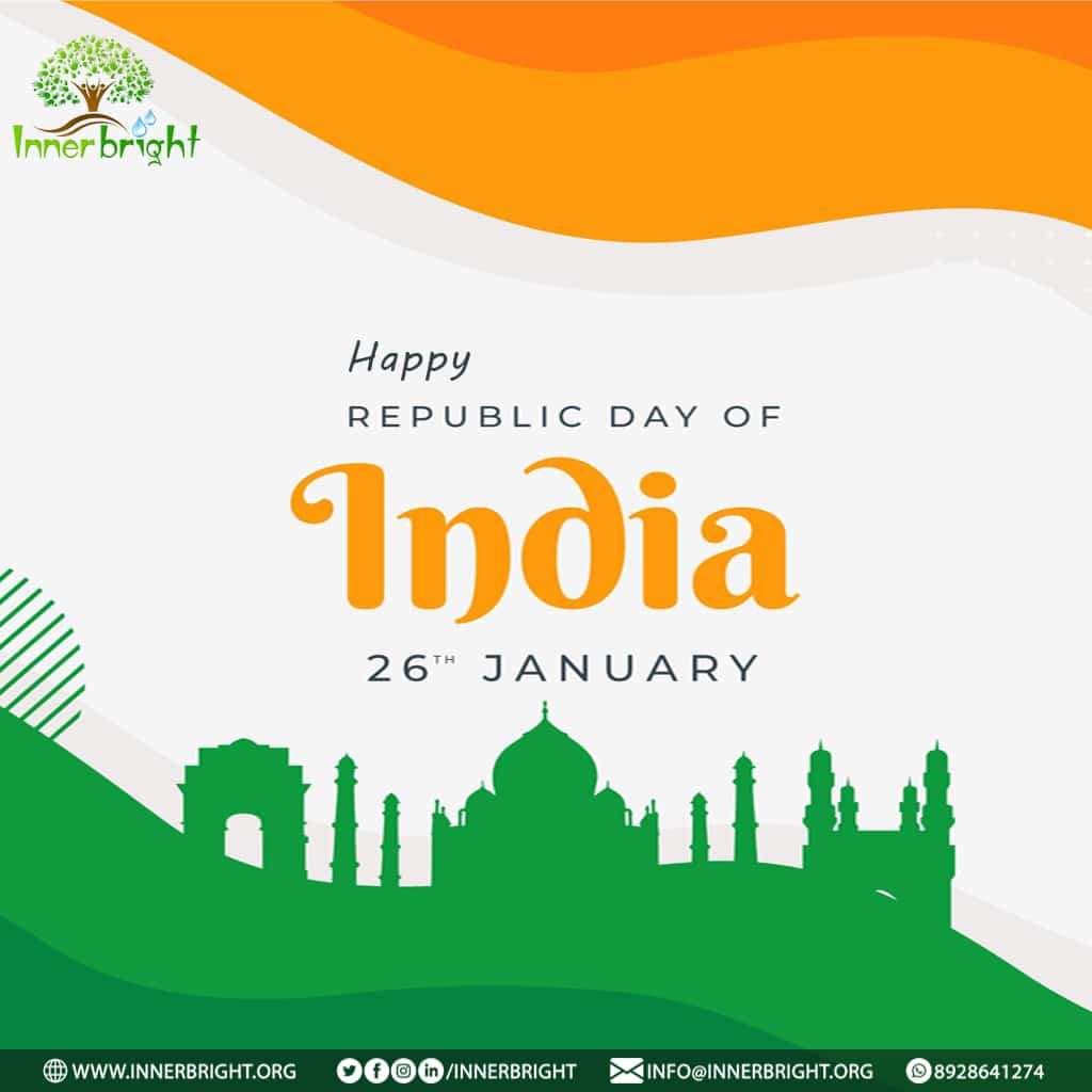 Wish You Happy Republic Day From Innerbright Organization  . . . . #Innerbright #AnkHub #republicday #wishes #festival #India #happiness #development #service #celebrations #newyear2021