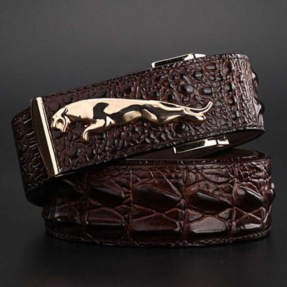 Men's Jaguar Crocodile Leather Belt #igers #tagsforlikes