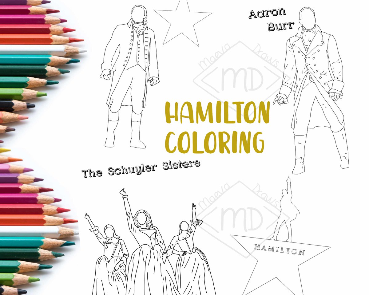 """""""Pardon me. Are you Aaron Burr, sir?""""  Find my Hamilton coloring pages to print at home to have fun between 2 homeschool tasks, quarantine or on the weekend!    #coloring #Hamilton #hamiltonmusical #Quarantine #quarantineactivities #homeschool  #familytime"""