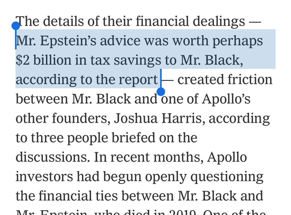 That one person could *avoid* $2 billion in taxes is already so infuriating on so many levels that the Epstein part only offers the sweet relief of an aneurysm nytimes.com/2021/01/25/bus…
