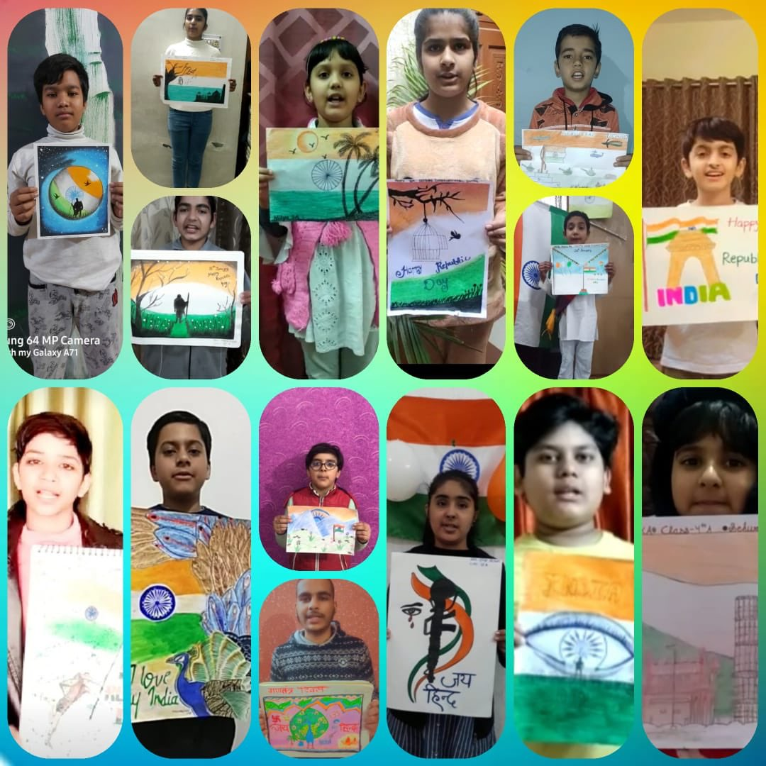 We always try to motivate our young citizens to have pride in their hearts of being an Indian. The Arts, Dance and Music Department of our school organized a competition to celebrate Republic Day where our students showcased their skills.  #HappyRepublicDay2021