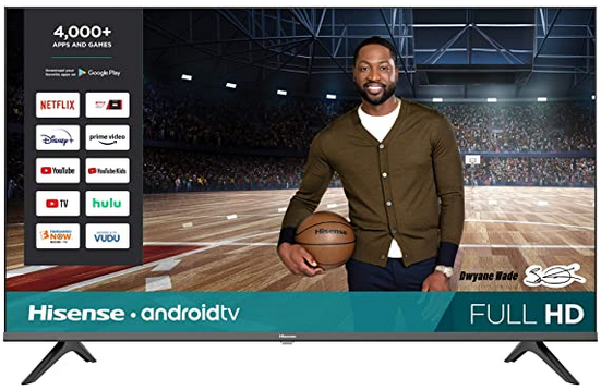 Hisense 43-Inch 43H5500G Full HD Smart Android TV with Voice Remote (2020 Model) only $199.99!  #affiliate #deals #clearance #electronics #sale