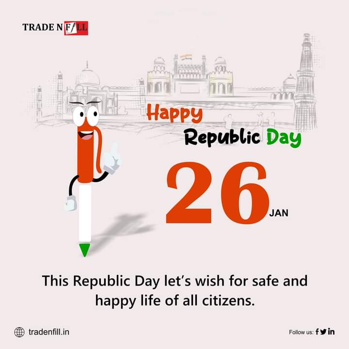 Let us remember the golden heritage of our country and feel proud to be a part of India. Wishing you all a very Happy Republic Day 2021!  #tradenfill #tax #taxes #accounting #business #taxseason #finance #incometax #accountant #smallbusiness #entrepreneur #bookkeeping #taxprepare