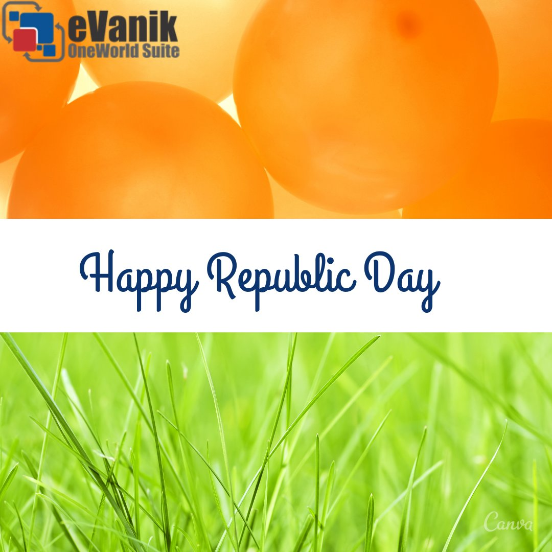 #eVanik wishes all a very Happy Republic Day #ecommerce #ecommercebusiness #ecommercetips #ecommercemarketing #ecommercesolutions #ecommerceexpert #ecommercetrends #ecommercemanager #accounting #reconciliation #inventorymanagement #orderprocessing