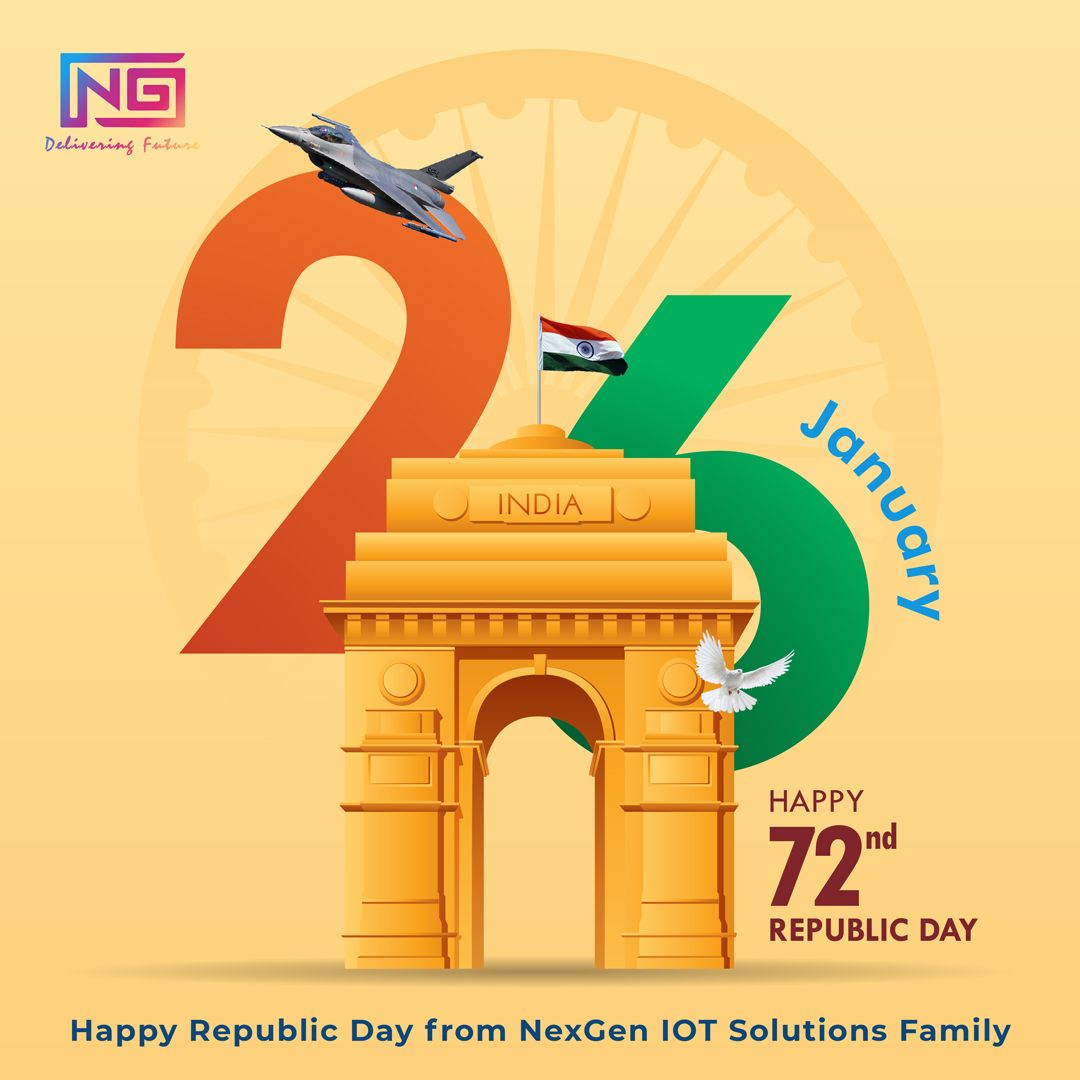 May we always have the freedom to choose, freedom to live, and freedom to dream. Happy Republic Day from NexGen IOT Solutions Family! . . . #republicday  #india  #national  #patriots #ocassional #happynewyear  #2k21  #newyear2021  #photooftheday  #love  #indian  #jaihind