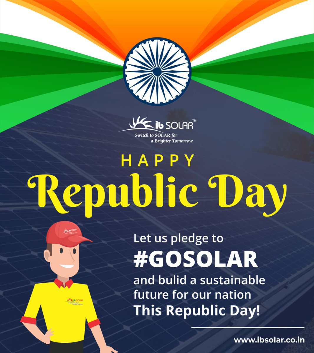 Let Us Pledge To #GOSOLAR And Build A Sustainable Future For A Nation   Happy Republic Day  #republicdaycelebration #mumbai #manipulation #snapseed #cbedits #follow #vsco