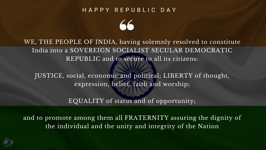 Let us remember the golden heritage of our country and feel proud to be a part of India. Team All About Eve wishes you a very Happy Republic Day! #RepublicDay #RepublicDay2021 #HappyRepublicDay https://t.co/TjJEk0ONNX