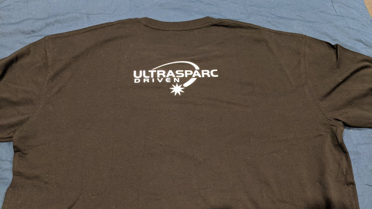 New classic t-shirt time. Not sure yet what to do on the front of the black one, though. Maybe two-tone opensolaris? #sun #sparc #ultrasparc #solaris