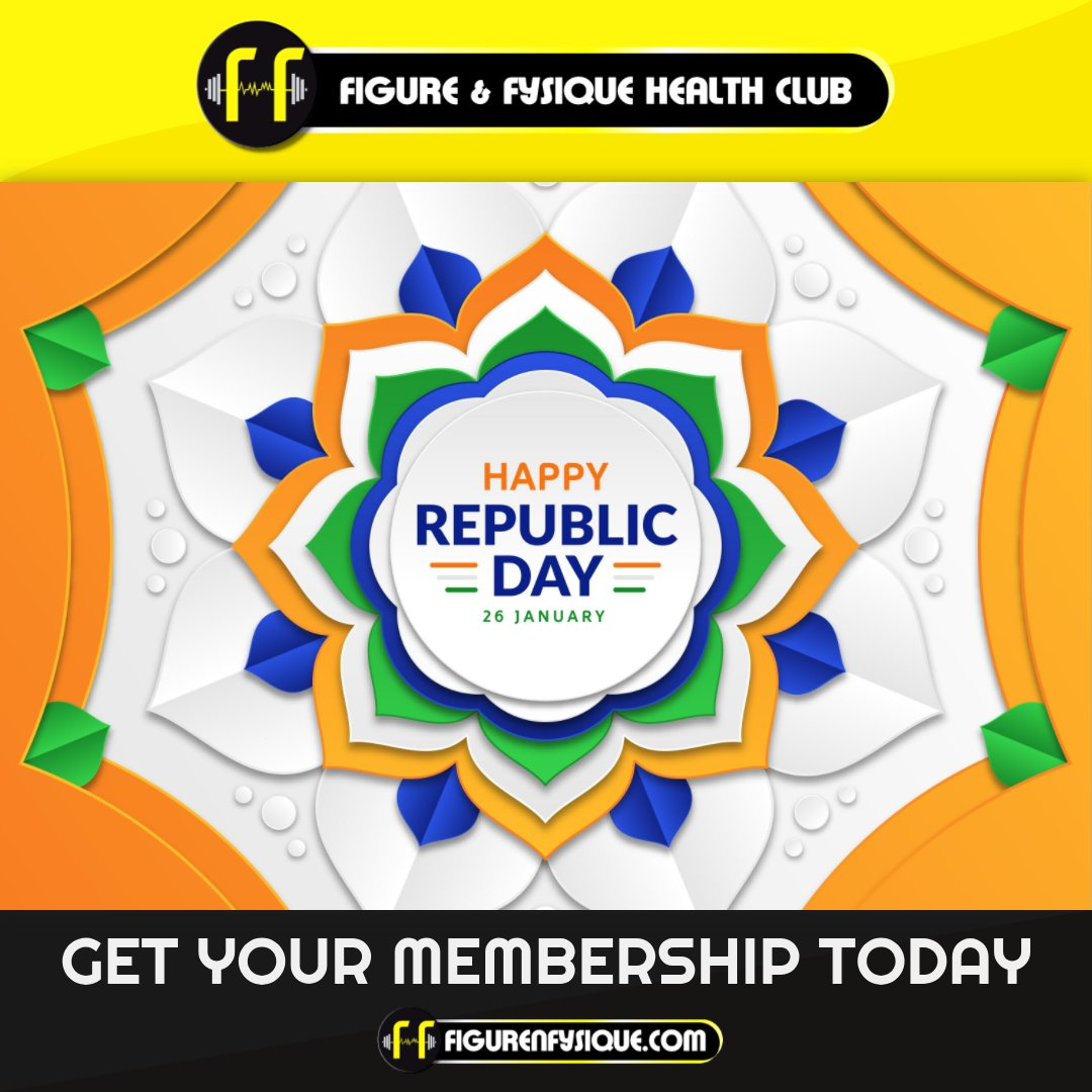Wish you all a very Happy 72nd India Republic Day! #trending #posts #fitness #gym #workout #indiarepublicday #2021 #bodybuilding #training #health #fitfam #sport #crossfit #healthy #love #healthylifestyle #personaltrainer #muscle #follow #fnf #facebook #twitter #instagram