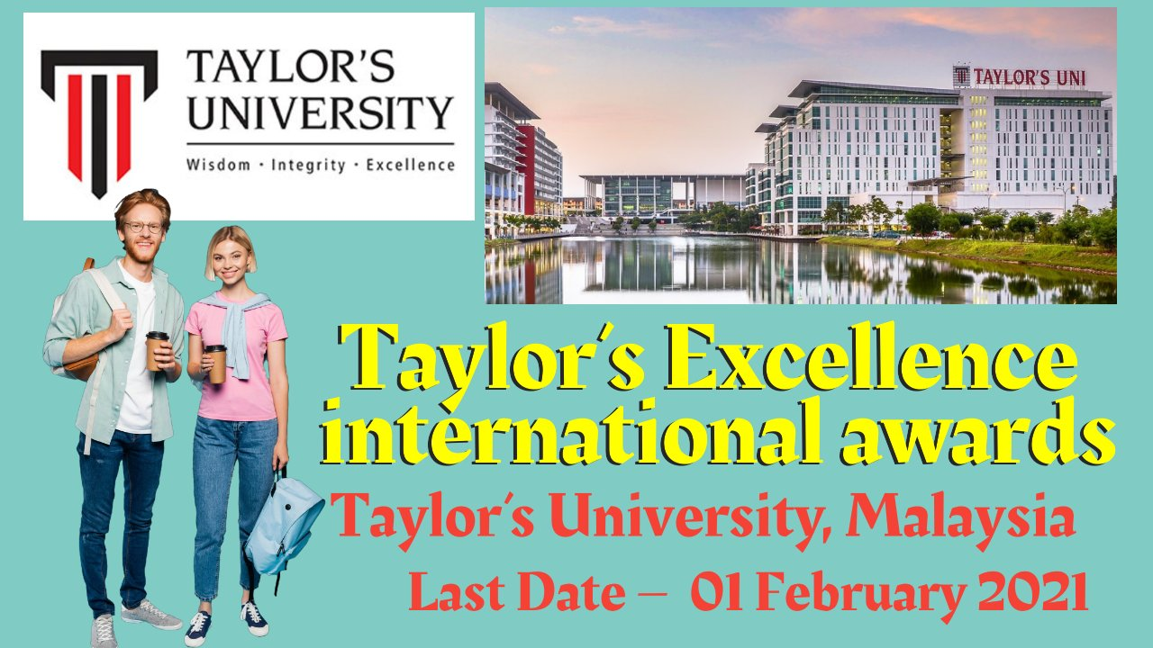 Taylor's Excellence international awards at Taylor's University, Malaysia