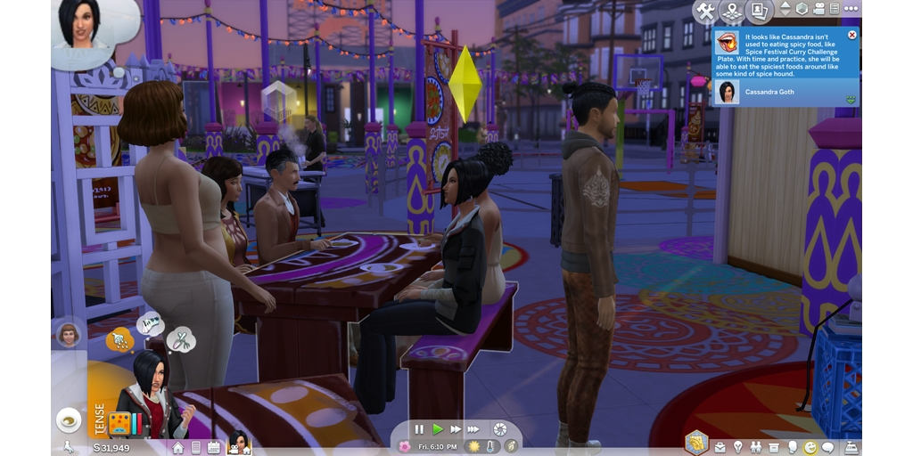 Attempting the spicy challenge #familytime #TheSims4