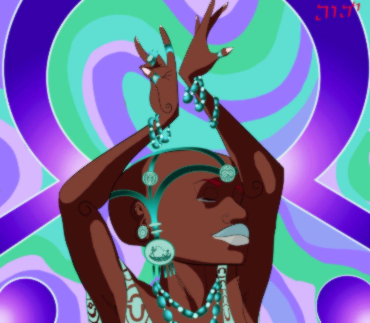 Two other version of my illustration a Yoruba Dancer.  PRINTS:     #art #design #africanart #blackart #twitterart #tribal #twitter #ArtistOnTwitter