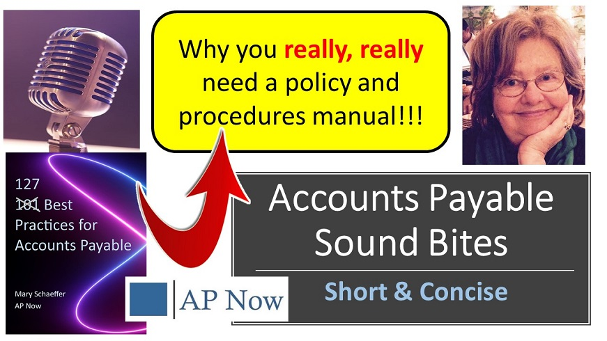 Best Practices in 4 quick minutes: Why every organization needs to have a current, updated policy and procedures #manual for their #accountspayable #accounting and #finance functions. @accountspayable ▶️