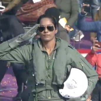 For those asking, Flt Lt Bhawana Kanth flies MiG-21 Bisons. #RepublicDay
