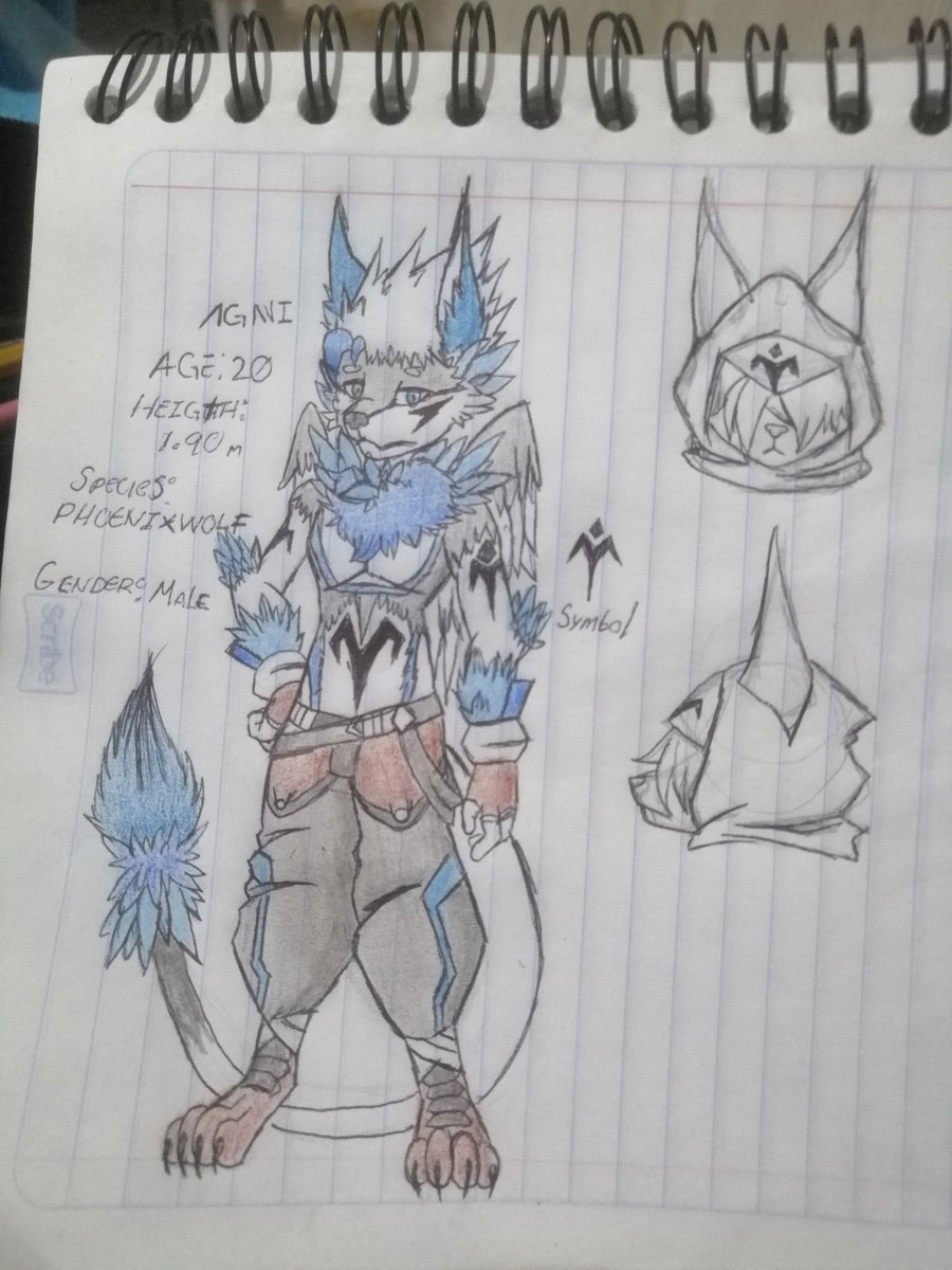 Just redesigning some old OC from an erased acc. The Phoenixwolf species belongs to: @KenaDirewolf  #KahlanNicte #Furry #refsheet #drawing