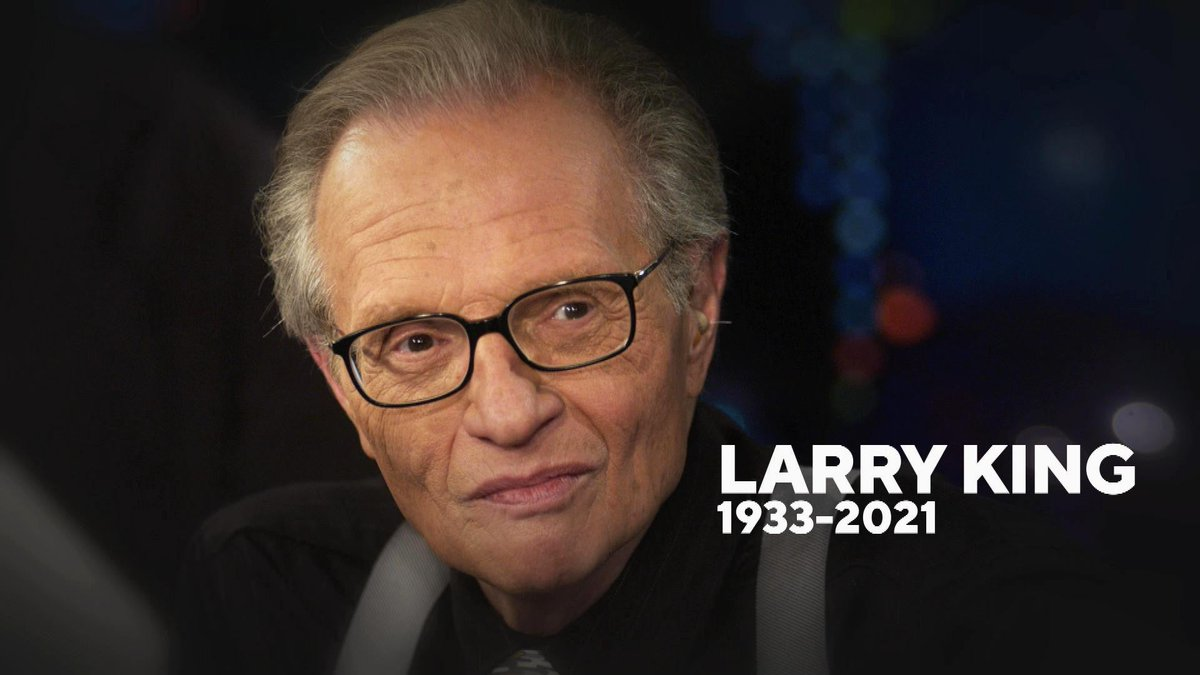 Rest In Peace, Larry King. I think all of us thought he was immortal. You know, back in the 80s he had a severe heart attack or something similar. He took care of himself after that - gave up smoking and the bad food - and lived another 40+ years. It's never too late to change.