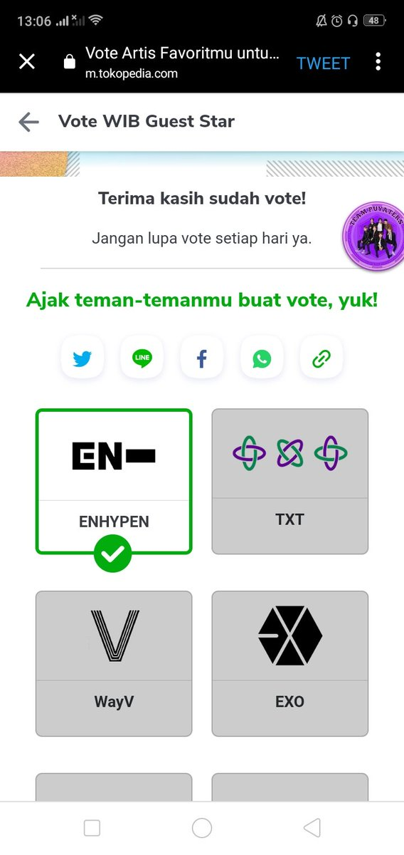 Enhypen Weverse On Twitter Tutorial Tokopedia Enhypen Is Nominated For Artists You Want To Perform On Tokopedia Next Month We Didn T Win Last Time So Let S Do Our Best To Win This