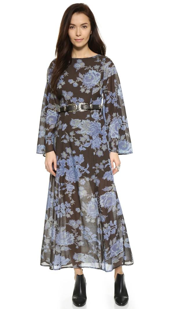 Free People Melrose Print Maxi Dress - Night Combo  #style