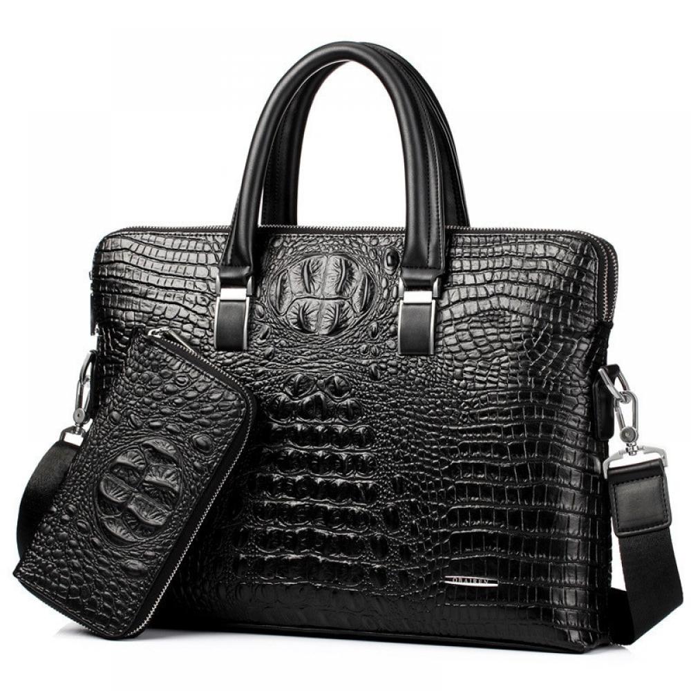 #style #stylish 2Pcs Sets pu Leather Men Bag Shoulder Bag Messenger Bags