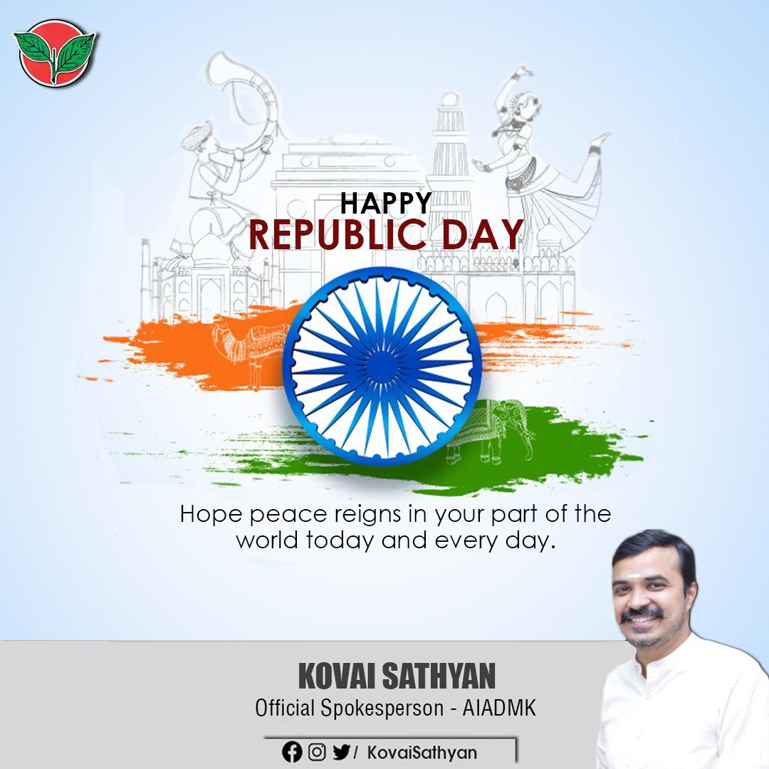 #RepublicDay2021  #RepublicDayIndia  @AIADMKOfficial