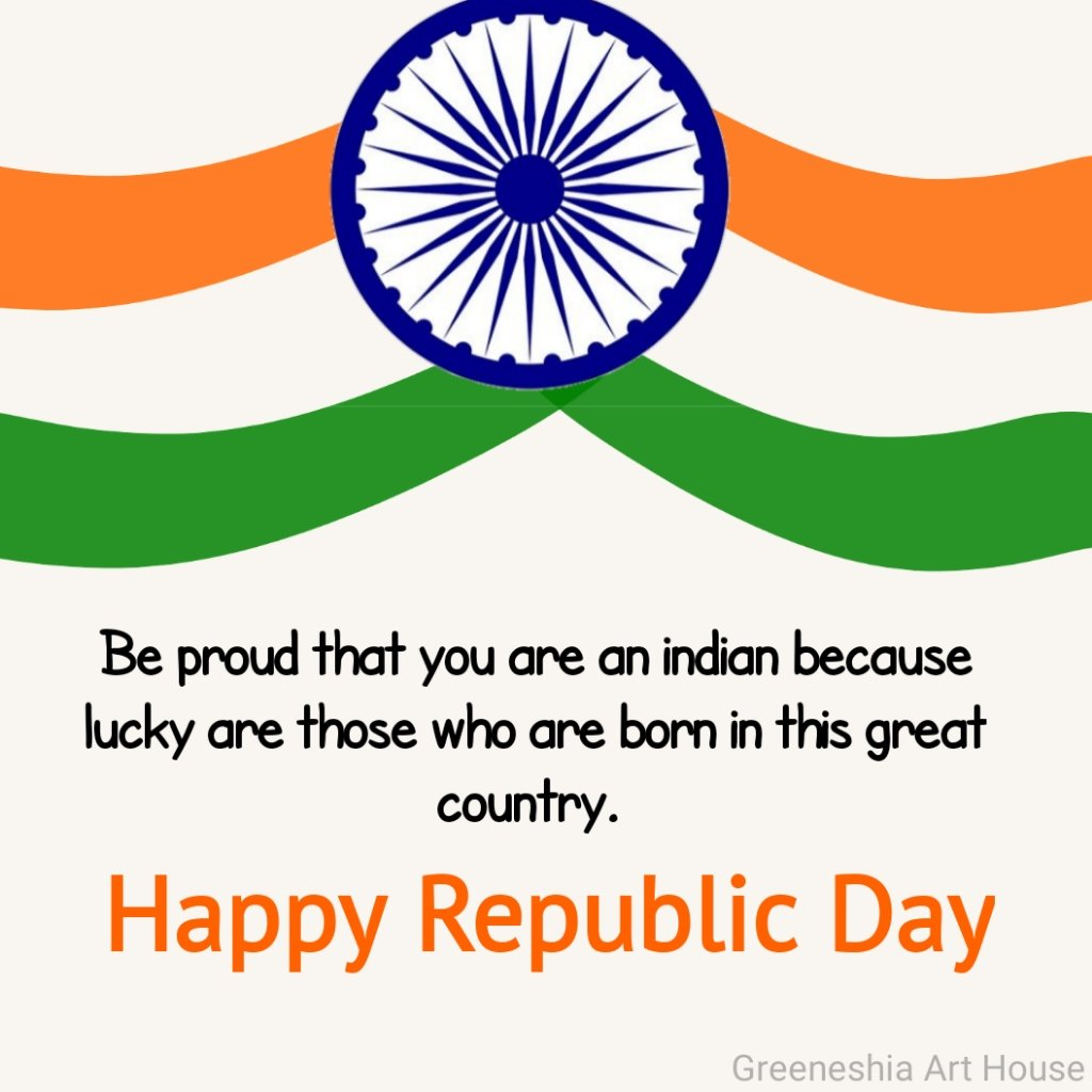 Be proud that you are an Indian because lucky are those who are born in this great country.  Happy Republic Day🇮🇳  #गणतंत्र_दिवस #HappyRepublicDay2021 #RepublicDay #RepublicDay2021