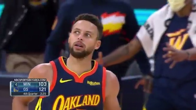 Steph's face after draining another three 😂