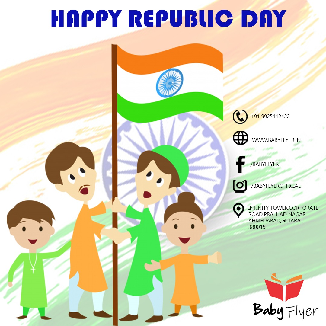 A thousand salutes to the great nation of ours.  May it become even more prosperous....  Wish you a very happy Republic Day.....  #babyflyer #babymemories #babylove #parents #pastmemories #babyflyerdiaries #babyflyermemory https://t.co/youqXccURi