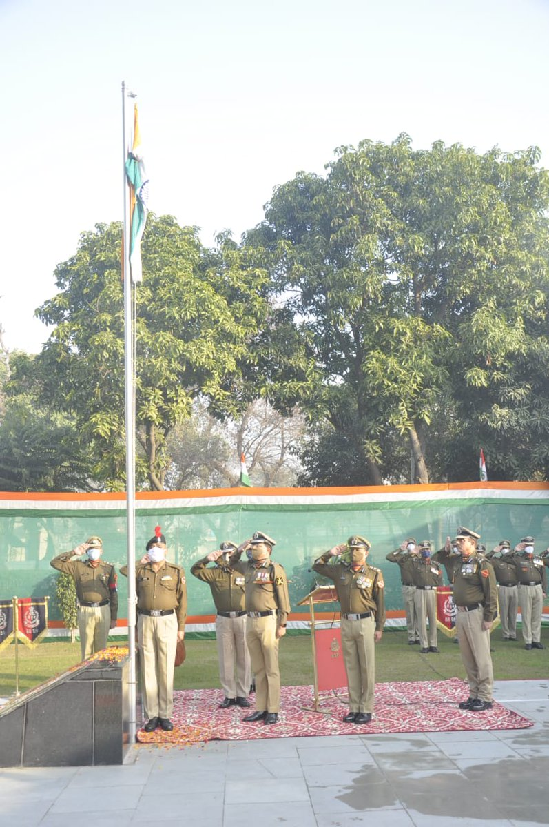 26 Jan 2021  #BSF #Punjab  Sh Rakesh Asthana, DG #BSF hoisted #tricolor to mark 72nd #RepublicDay at #BSFCampKhasa, #Amritsar. On the occasion DG #BSF congratulated all #bordermen safeguarding the borders of our motherland round the clock.  सीमा सुरक्षा बल - सर्वदा सतर्क