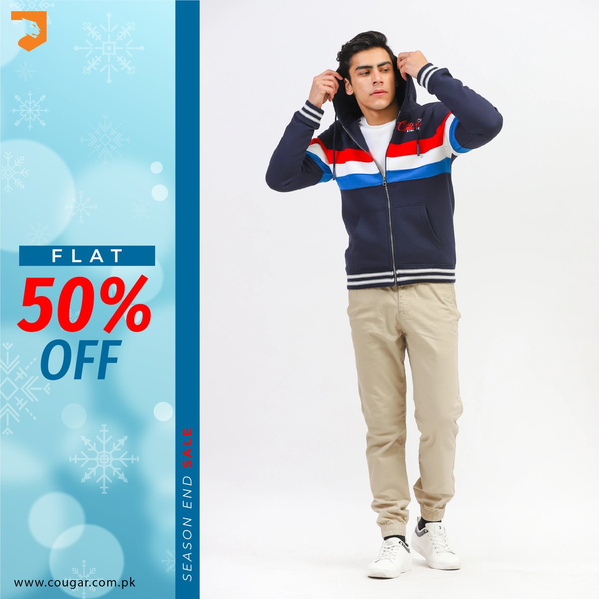 Season End Sale! FLAT 50% OFF on entire stock. For more details:    #cougarclothing #cougarcrew #jointhecrew #eoss #sale #hoodies #onlineshopping #karachi #sindh #punjab