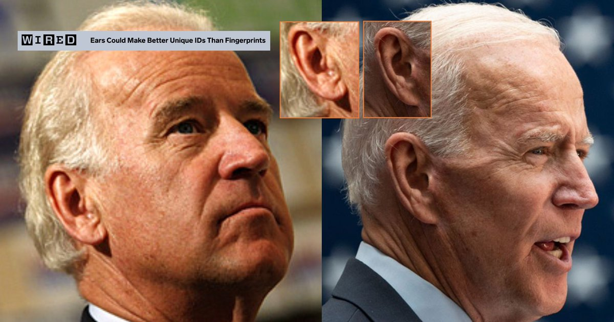 the earlobe on the current version of biden is 100% not the same earlobe as that on the earlier version of biden. it's a replicant. https://t.co/luOt01lBiJ