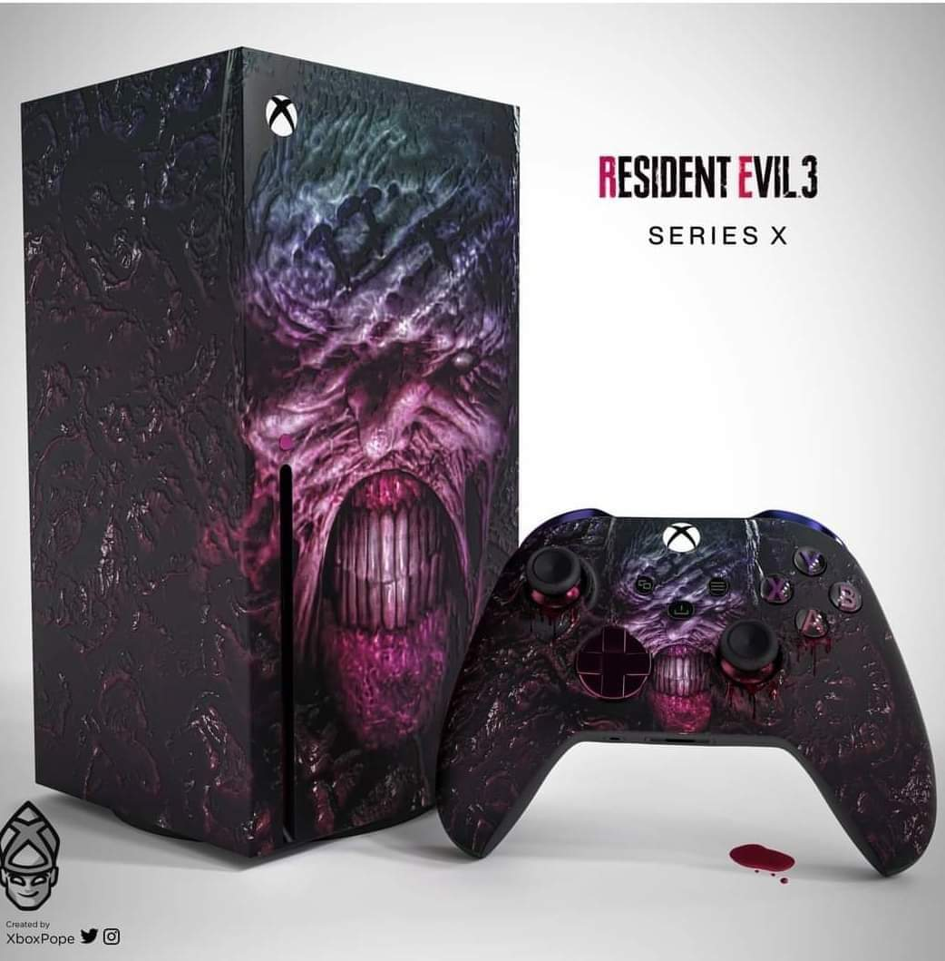 A concept skin for the PS5 and XSX Series  #PlayStation5 #PS5 #XboxSeriesX #XSX #ResidentEvil8 #ResidentEvilVillage #ResidentEvil3 #ResidentEvil3Remake #REBHFun   🐺🐺🐺
