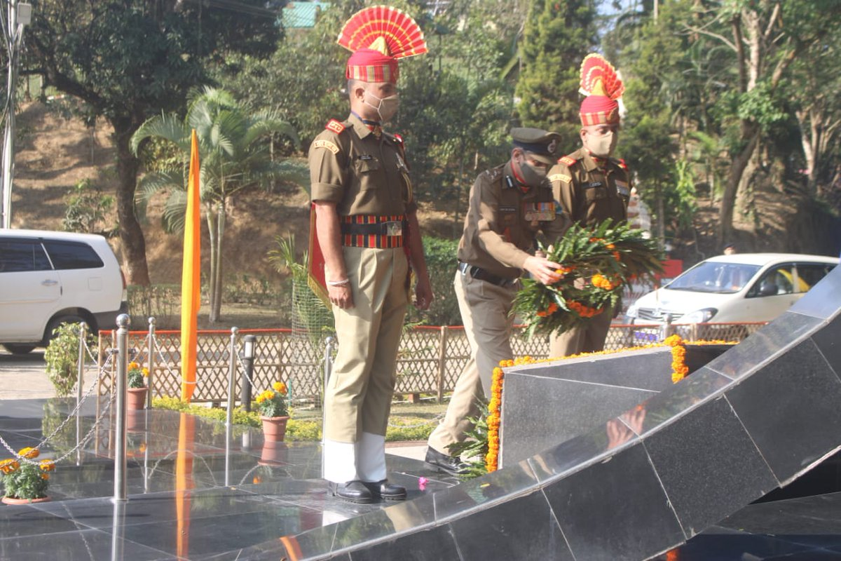 IG & all available troops of Mizoram & Cachar Ftr observed 72nd Republic day. @HMOIndia @PIB_India  @BSF_India