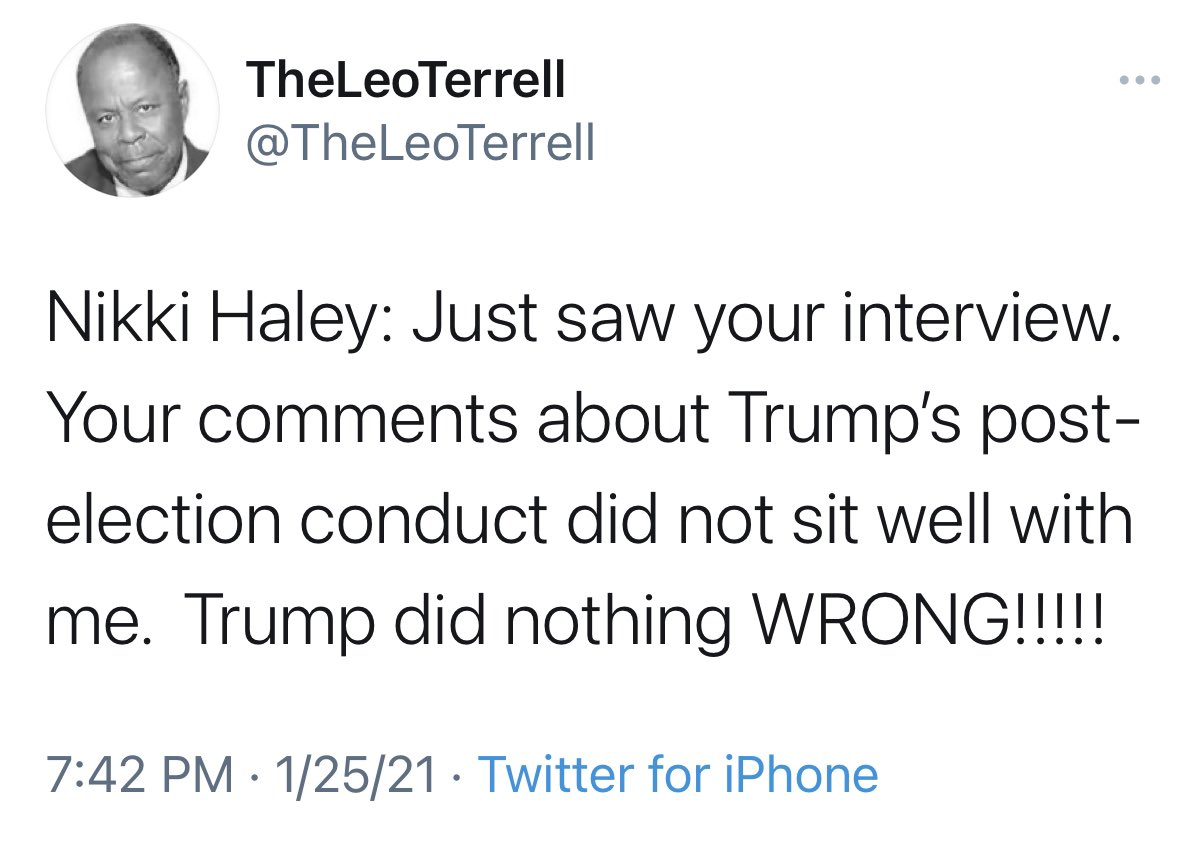Wow. Nikki Haley managed to piss off everybody tonight. Well done, traitor.